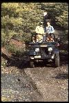 Steve Fox and crew from San Francisco's KPIX Evening Magazine arrive at the top of Repack via Jeep, January 1979